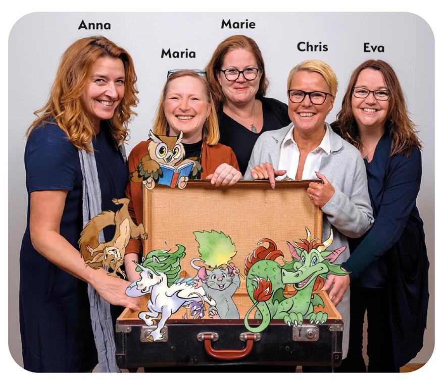 Vi på Bonnierförlagen Lära - Anna, Maria, Marie, Chris, Eva