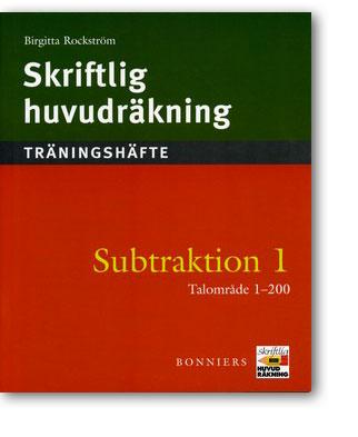 Skriftlig huvudräkning Subtraktion 1 Träningshäften 5-pack