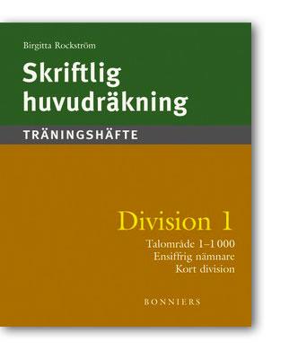 Skriftlig huvudräkning Division 1 5-pack