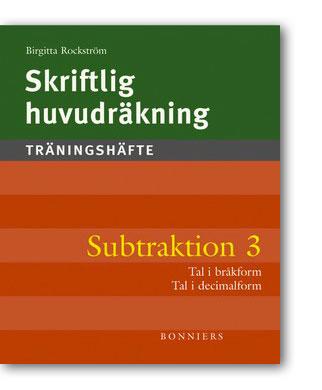 Skriftlig huvudräkning Subtraktion 3 5-pack