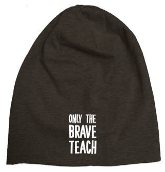 Mössa - Only the brave teach (svart)