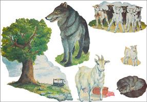Vargen och de sju killingarna flano