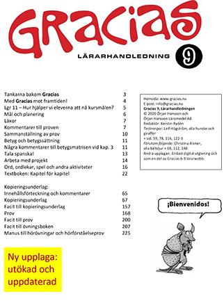 Gracias 9 Lärarhandledning PDF