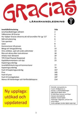 Gracias 7 Lärarhandledning PDF