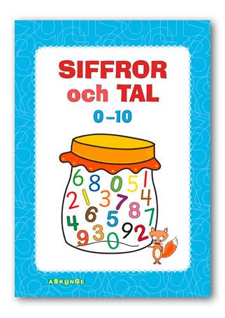 Siffror och tal 0-10, övningsbok