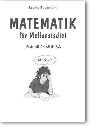 Matematik för mellanstadiet 5A facit grundbok 5-pack