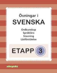 Etapp 3 - Blandade övningar i svenska