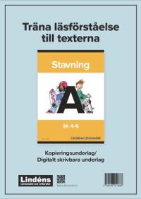 Träna läsförståelse Stavning A pdf