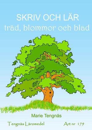 Skriv och lär - Träd, blommor och blad kopieringsunderlag