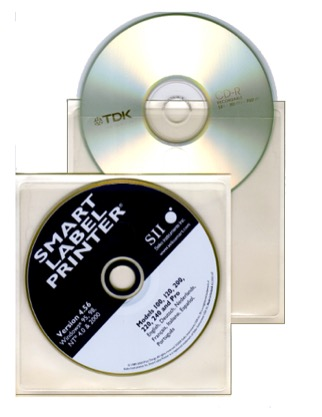 Plastficka för CD självhäftande 2-pack