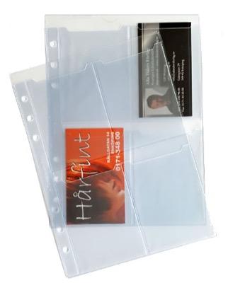 Visitkortshållare hålad för systempärm 2-pack