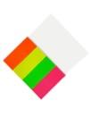 Självhäftande flikar fyra färger